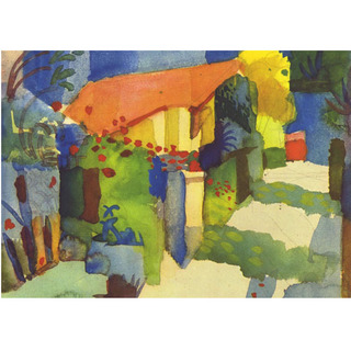 August Macke - House in the Garden na internet