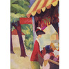 August Macke - In Front of the Hat Shop - Woman With Red Jacket and Child na internet