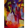 August Macke - People At  The Blue Lake na internet