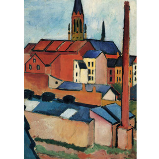 August Macke - St Mary's With Houses and Chimney Bonn na internet