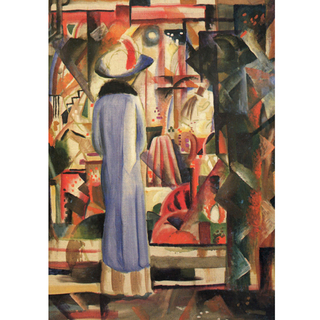 August Macke - Woman in Front of a Large Illuminated Window na internet