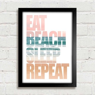 Poster Eat Beach Sleep Repeat na internet