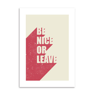Poster Be Nice Or Leave - loja online