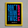 Poster Bob Dylan - Don't Think Twice It's Alright na internet