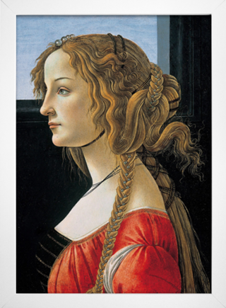 Botticelli - Portrait of a Young Woman - loja online