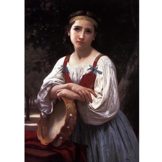Bouguereau - Gypsy Girl With a Basqued Drum
