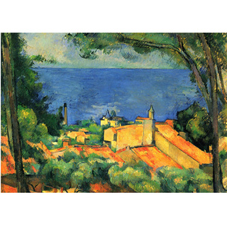 Cezanne - L'Estaque With Red Roofs na internet