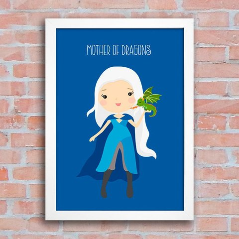 Poster GOT - Daenerys - Mother of Dragons - comprar online