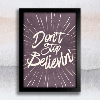 Poster Don't stop believin' na internet