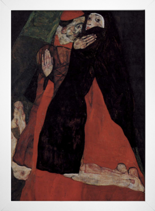 Egon Schiele - Cardinal and Nun Caress - loja online