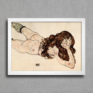 Egon Schiele - Female Nude Lying on her Stomach