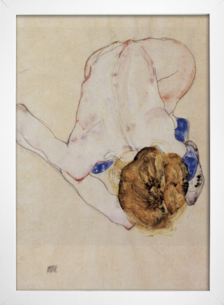 Egon Schiele - Forwards Female Nude - loja online