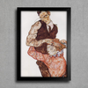 Egon Schiele - Lovers - Self Portrait With Wally - Encadreé Posters