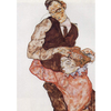 Egon Schiele - Lovers - Self Portrait With Wally na internet