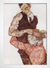 Egon Schiele - Lovers - Self Portrait With Wally