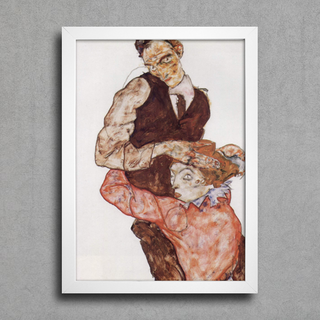 Egon Schiele - Lovers - Self Portrait With Wally - comprar online