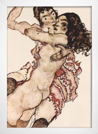 Egon Schiele - Pair of Women Embracing Each Other - loja online