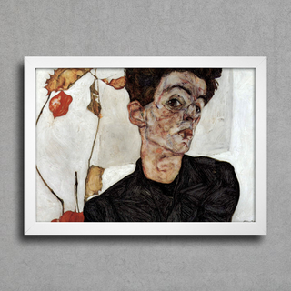 Egon Schiele - Self Portrait With Chinese Lantern Fruits - comprar online