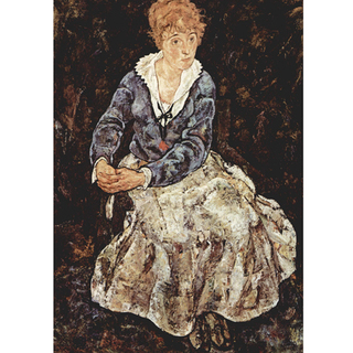 Egon Schiele - The Artist's Wife Seated na internet