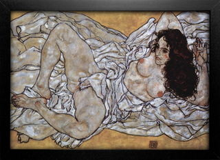 Imagem do Egon Schiele - Woman Lying Down