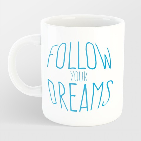Caneca Follow your dreams na internet