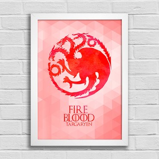 Poster Game of Thrones - Fire and Blood - Targaryen na internet