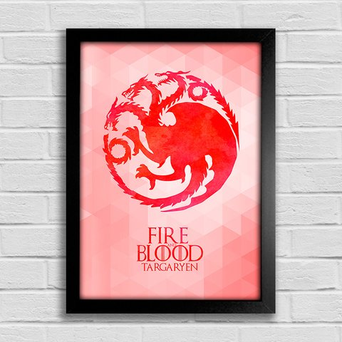 Poster Game of Thrones - Fire and Blood - Targaryen - comprar online