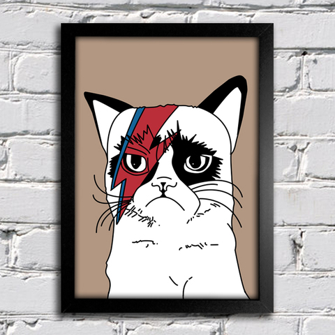 Poster David Bowie - Gato