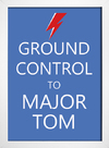 Poster David Bowie Ground Control to Major Tom - Encadreé Posters