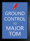 Poster David Bowie Ground Control to Major Tom na internet