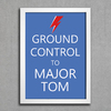 Poster David Bowie Ground Control to Major Tom - comprar online