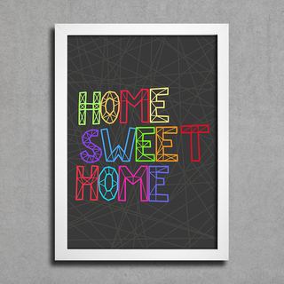 Poster Home Sweet Home na internet