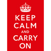 Poster Keep Calm and Carry On - loja online
