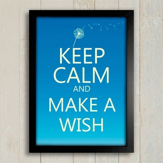 Poster Keep Calm and Make a Wish - comprar online