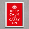 Poster Keep Calm and Carry On - comprar online