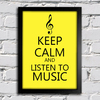 poster keep calm and listen to music