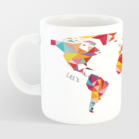 Caneca Let's Travel The World - comprar online