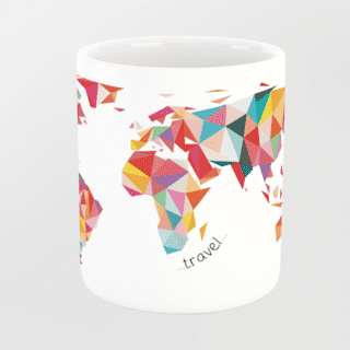Caneca Let's Travel The World na internet