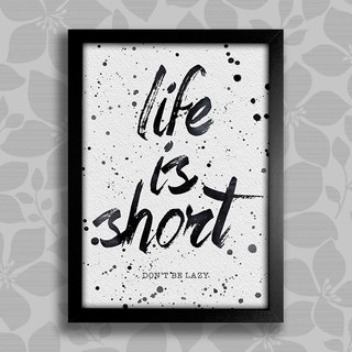Poster Life is Short na internet