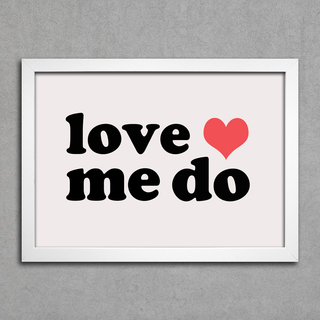 Poster Beatles Love Me Do - comprar online