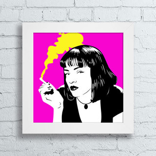 Quadro Mia Wallace - Pulp Fiction I - Encadreé Posters
