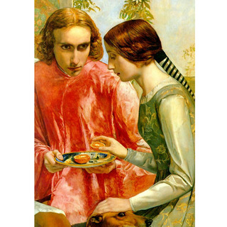 Millais - Lorenzo and Isabella Detail