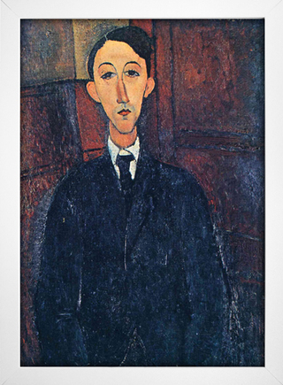 Modigliani - Portrait of the Painter Manuel Humbert - loja online