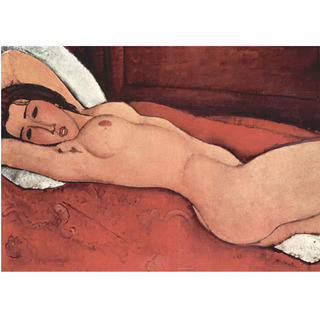 Modigliani - Reclining Nude With Folded Arms Behind Her Head