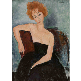 Modigliani - Redheaded Girl in Evening Dress