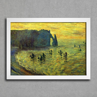 Monet - Cliffs at Etretat - comprar online