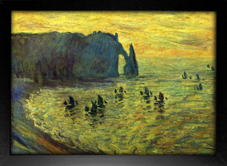 Imagem do Monet - Cliffs at Etretat