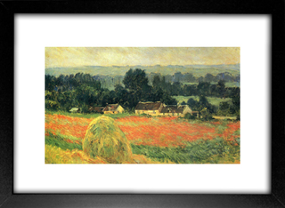 Quadro Monet - Haystack At Giverny  - Encadreé Posters