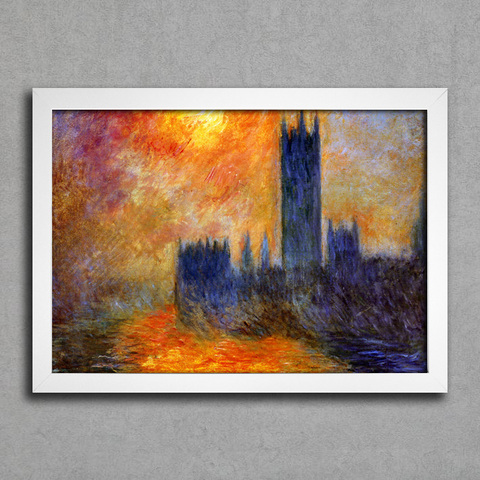 Monet - House Of Parliament Sun