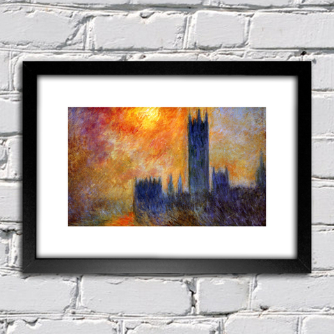 Quadro Monet - House Of Parliament Sun